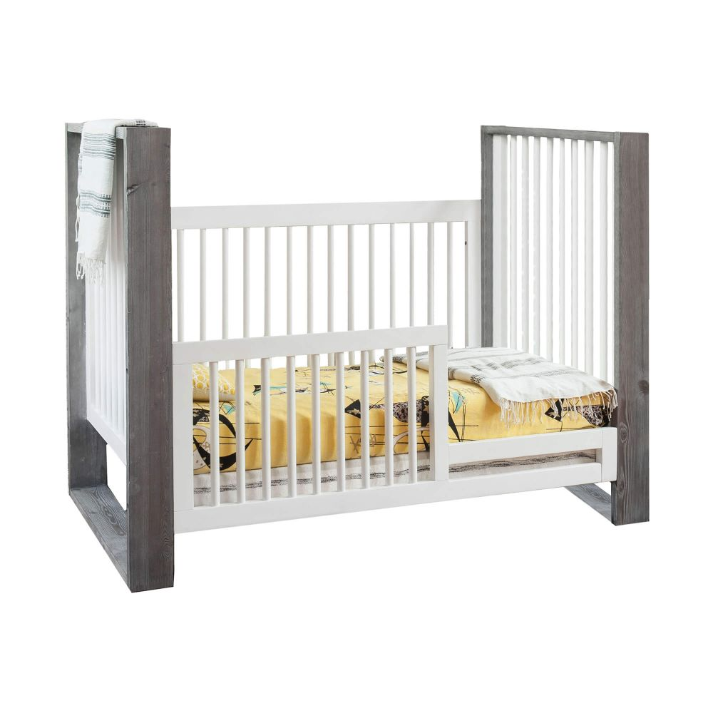 True 3-in-1 Traditional Crib with Toddler Rail Silo
