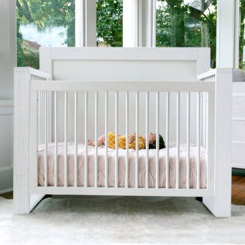 True 4-in-1 Convertible Crib Front View With Model