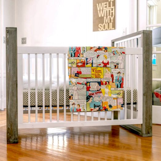 True 3-in-1 Traditional Crib Front View